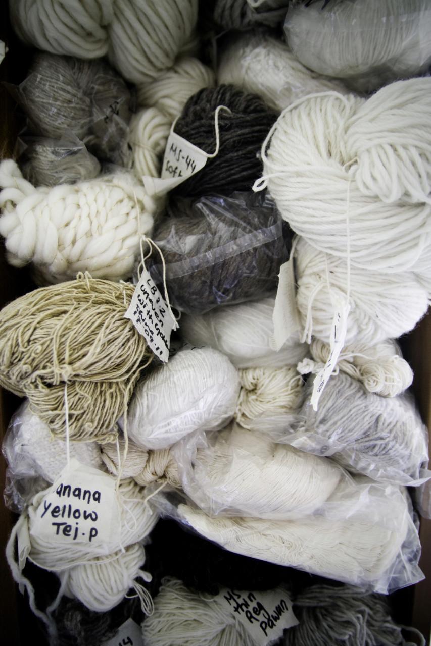 Wool samples in Kathmandu (Nepal)
