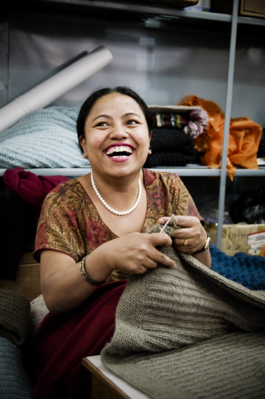 Fair knitting project in Kathmandu (Nepal)