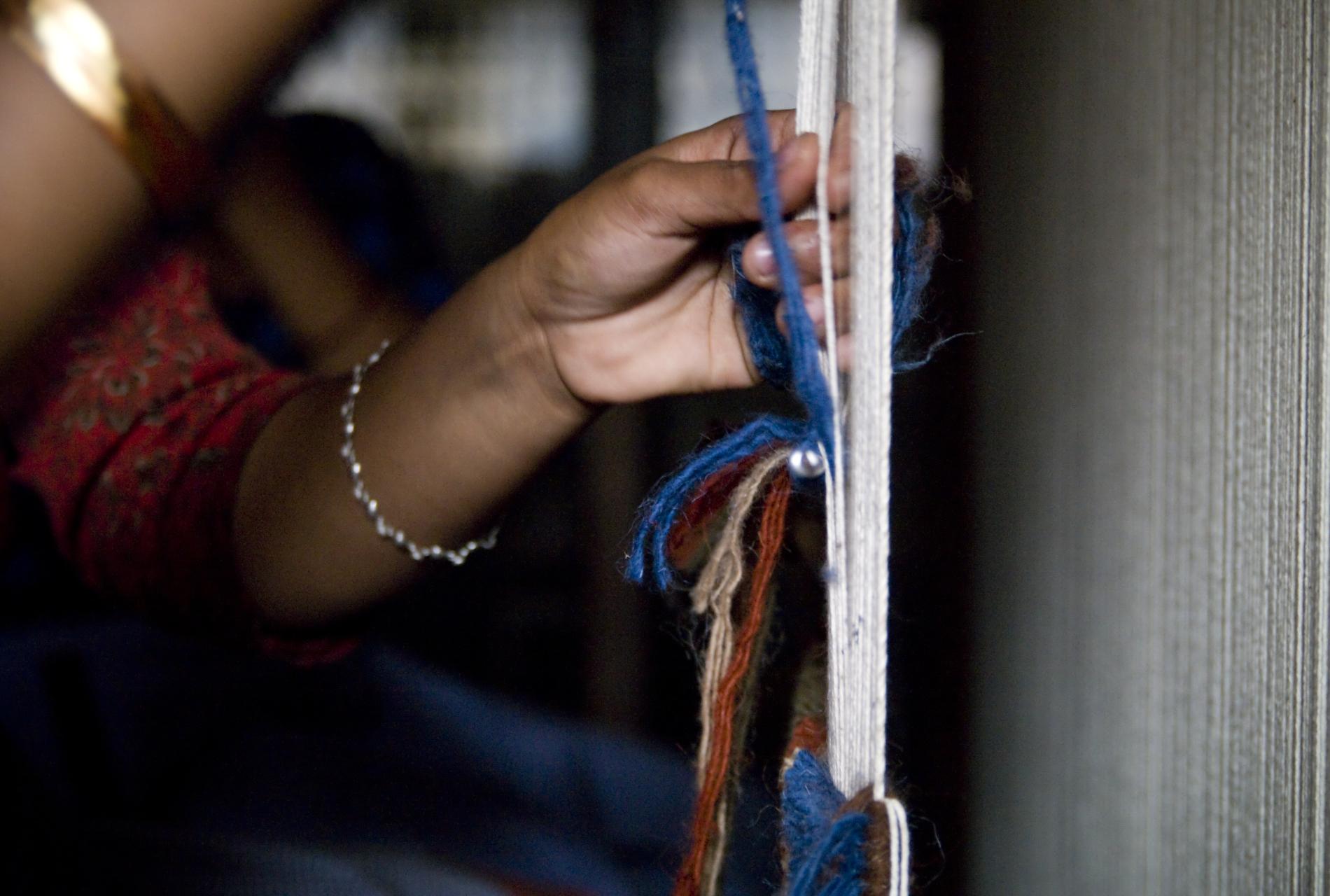 Carpet making in Kathmandu (Nepal)