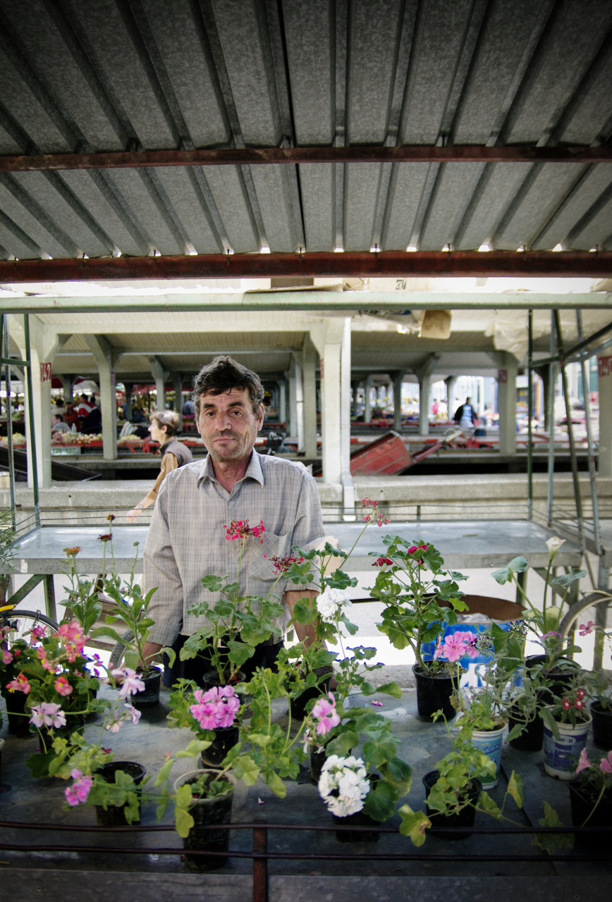 Flower seller in Prilep (Macedonia)
