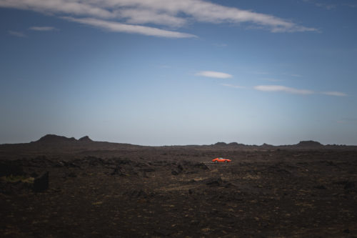 Hot car, Iceland, orange, Island, Carolin Weinkopf